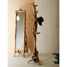 I'm kinda in love with this too, maybe I don't need the traditional coat rack with umbrella stand. The mirror is pretty cool too!