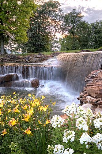 If we were rich enough to live here.. Hampton Cove Waterfall, Huntsville, Alabama