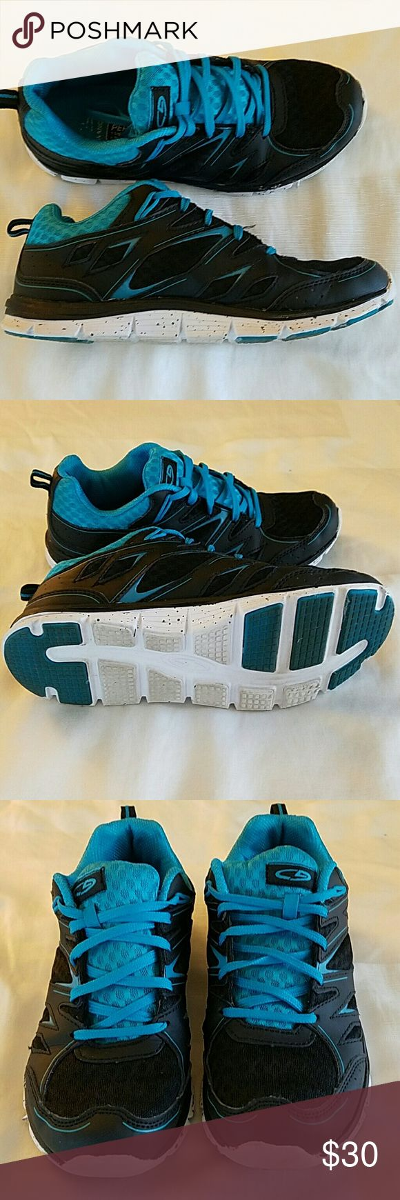 Champion shoes size 7.5 Blue and black running shoe. Lightweight cushion performance. Hardly worn. Champion Shoes Athletic Shoes