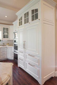 sub zero refrigerator cabinets | Glass Front Sub-zero Refrigerator Design Ideas, Pictures, Remodel, and ...
