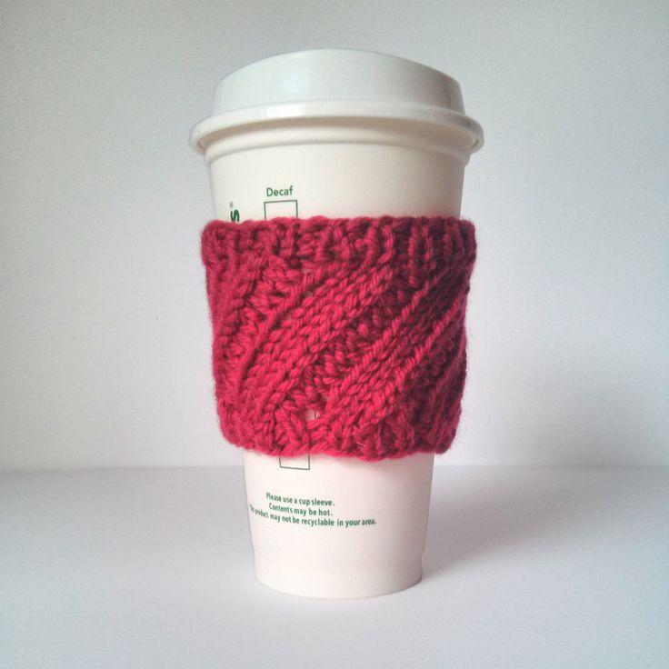 Contemporáneo Coffee Sleeve Knitting Pattern Adorno - Manta de Tejer ...