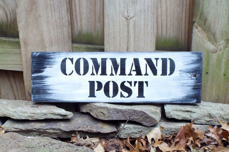 Hand Pained & Lettered Wood Sign - Command Post - Ready to Ship Military Themed Home Decor Household Six Army Marine Corps Navy Coast Guard by ButtonPressed on Etsy