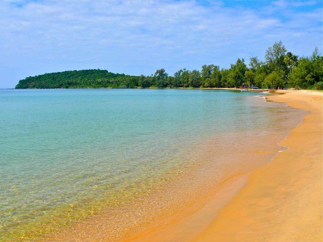 Koh Thmei Beach  Ream National Park is the land of breathtaking beaches in Cambodia, including the beaches in Koh Thmei, a small island surrounded by the mangrove.