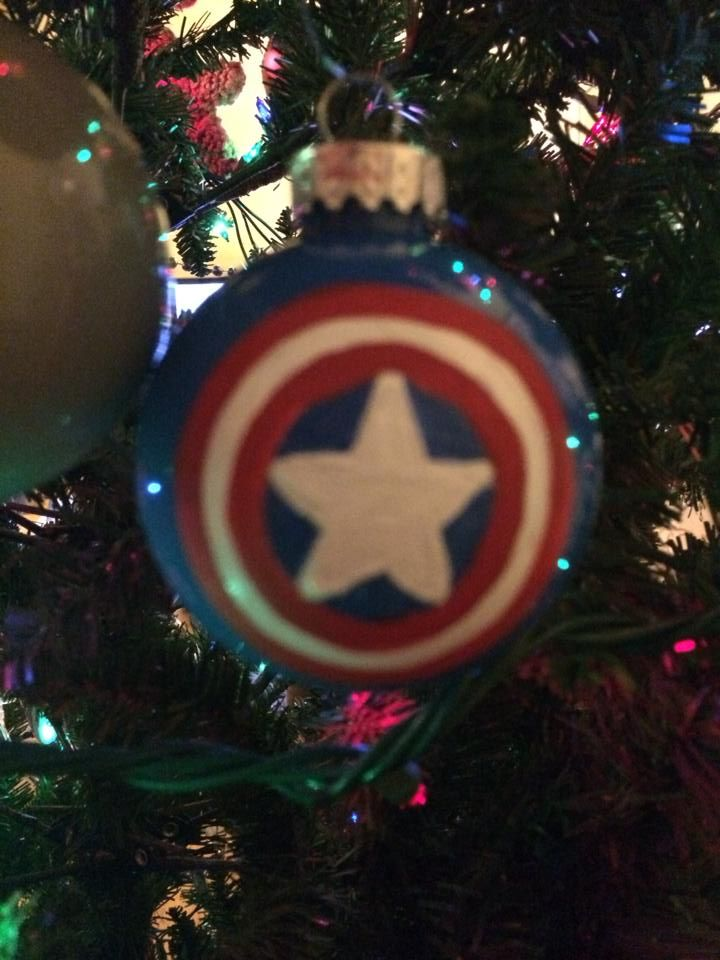 United States Christmas Ornaments Part - 20: Captain America, Acrylic On Clear Ornament