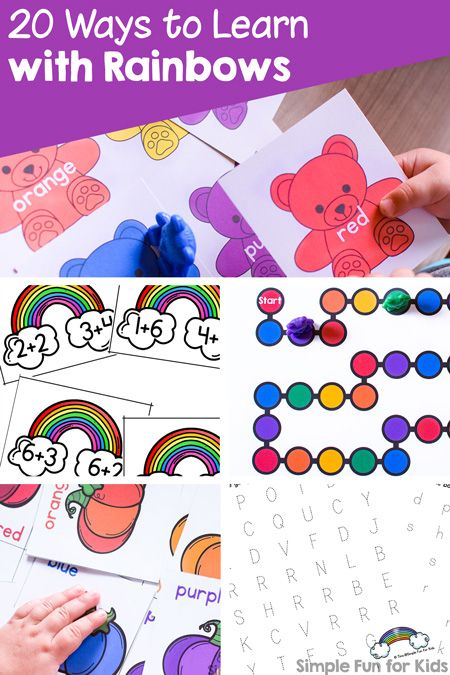Rainbows Are A Super Fun Theme For Learning With Young Kids Check Out These 20