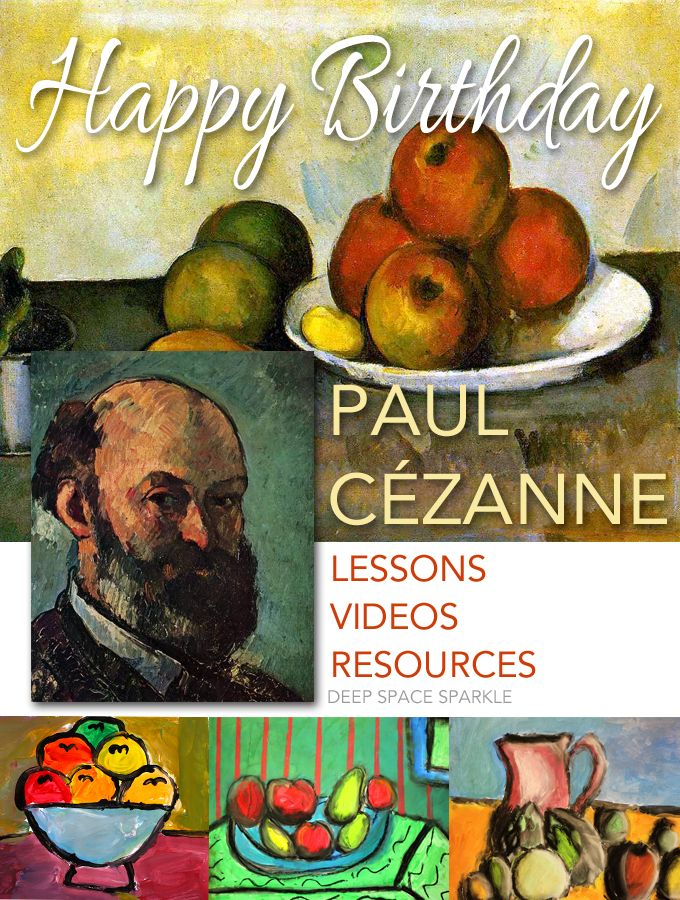 A curated collection of kid-tested art lessons based on French artist Paul Cézanne