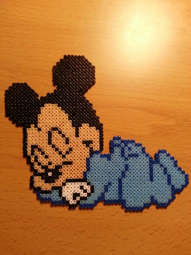 Baby Mickey Mouse hama perler beads by Factory Beads