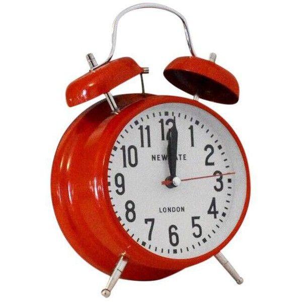 New Gate London Alarm Clock (37 CAD) ❤ liked on Polyvore featuring home, home decor, clocks, alarm-clock, alarm clock, red clock, bell alarm clock and london clock