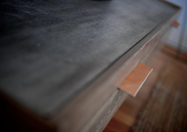 Concrete | oak media cabinet | NH oslo