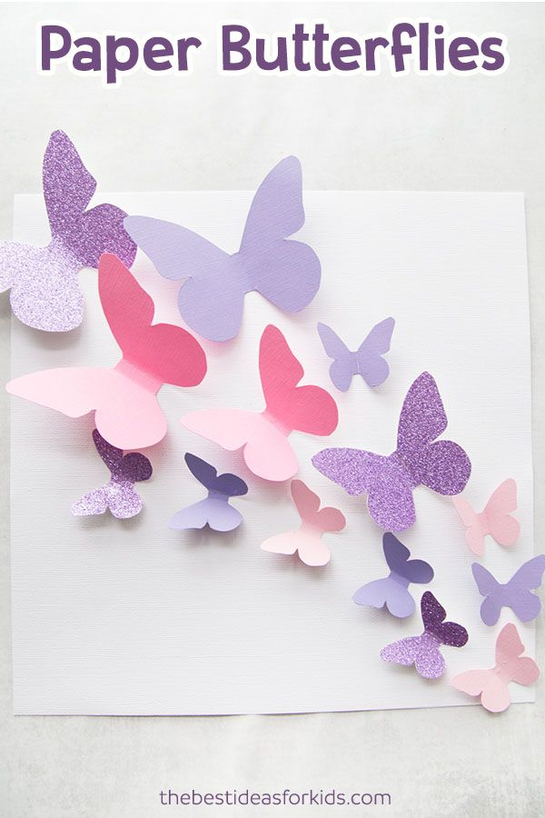 Butterfly Template Kids Crafts Paper Butterfly Crafts Paper