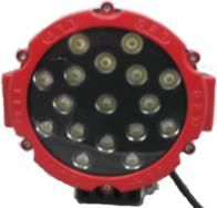 Driving, Work, Spot, Flood Light LED 51W  Operating Voltage: 10-30V DC  Waterproof rating: IP 67  17*3w high intensity Epsitar LEDs  Luminous Flux 3570lm  Optional Color: Black & White  Color Temperature: 6500K  Material: Die cast aluminum housing  Lens material: PMMA  Mounting Bracket: Stainless Steel  Optional Beam: 60 or 30 degree  Expected Life 30000+ hours  Certificates: CE RoHs