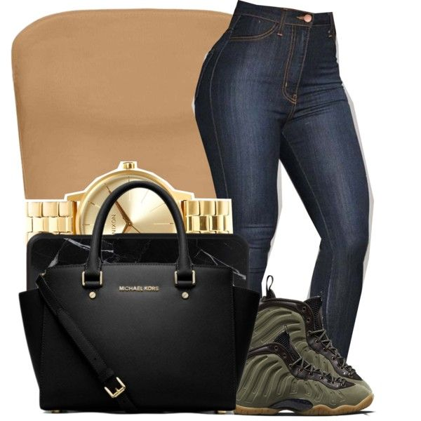 A fashion look from December 2016 featuring Boohoo tops, MICHAEL Michael Kors handbags and Nixon watches. Browse and shop related looks.