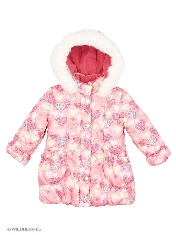 Пальто; застежка на молнию и ветрозащитную планку с кнопками; рельефные швы;  отстегивающийся капюшон с регулировкой и опушкой из натурального меха; подкладка полочек, спинки и капюшона из флиса; рукава с отворотами и внутренними трикотажными манжетами; 2 накладных кармана на резинке