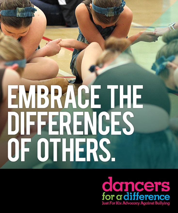 Embrace the differences of others. Learn more at: https://www.justforkix.com/dancersforadifference