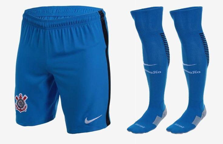 Terceira camisa do Corinthians 2016-2017 Nike Azul calção