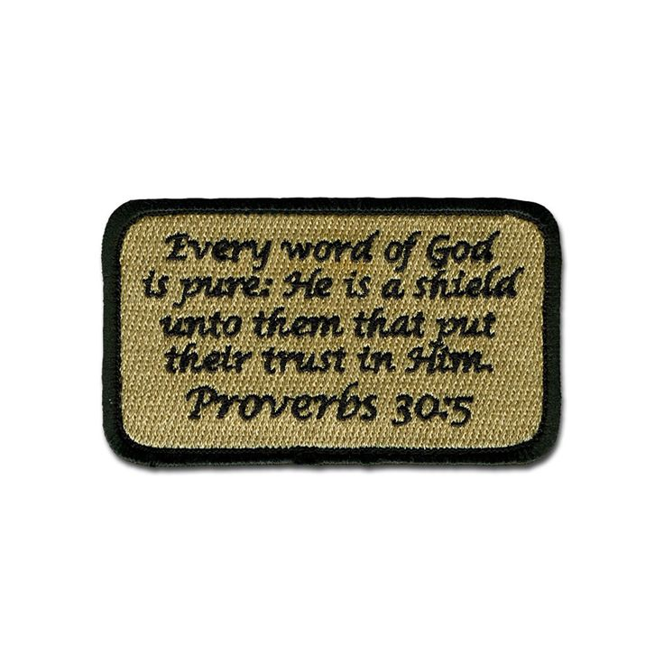 EMB MORALE PATCH - PROVERBS 30:5 ACU