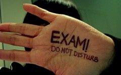 Exam time, don't disturb