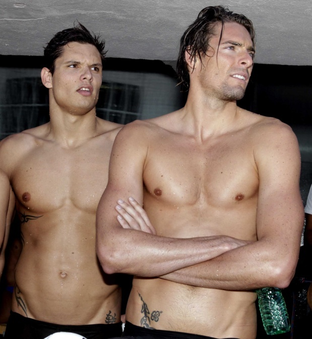 Florent Manaudou  Camille Lacourt, Olympic swimmers