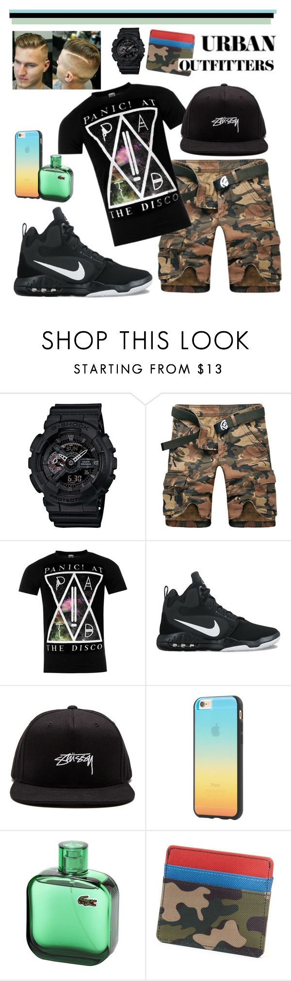 """""""PATD"""" by tropical-vegas-finest ❤ liked on Polyvore featuring G-Shock, NIKE, Stussy, Tavik Swimwear, Urban Pipeline, Urban Outfitters, men's fashion and menswear"""