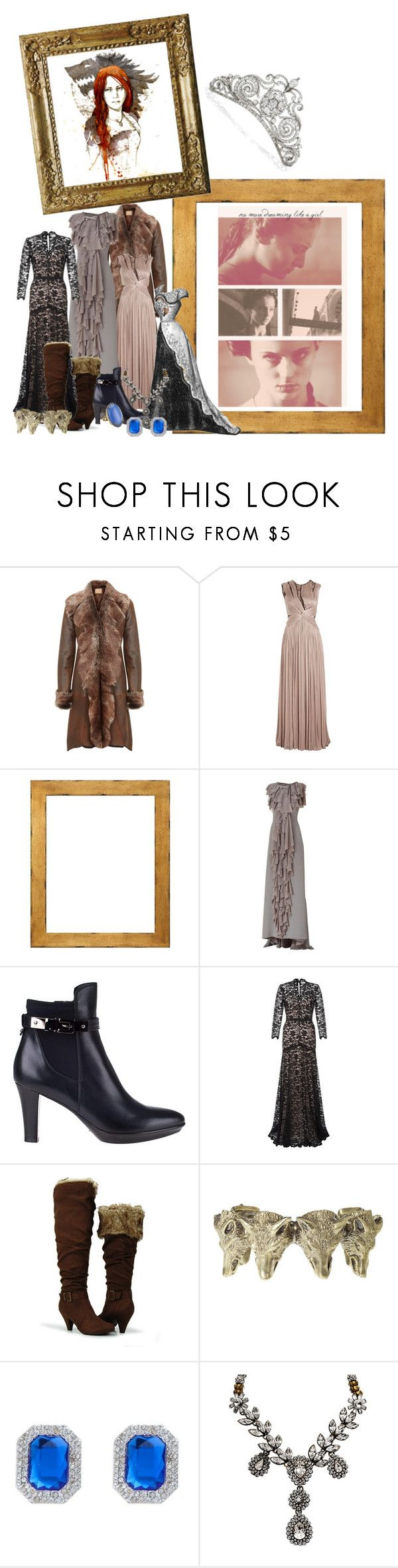 """""""Queen in the North"""" by tesspa ❤ liked on Polyvore featuring Dom & Ruby, Catherine Deane, Viktor & Rolf, Aquatalia by Marvin K., Azaara, Temperley London, City Classified, Alkemie and Otazu"""