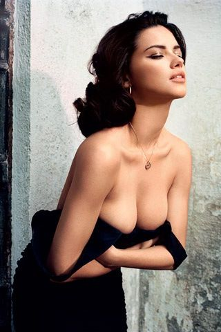 Adriana Lima, careful there. I wouldn't want you to fall out. #letsbefrank…, Sexy babe