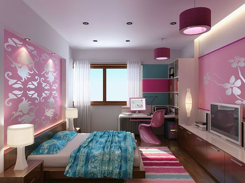 Modern bedroom design and decor.