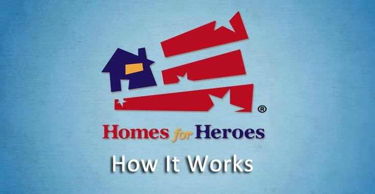 """Homes for Heroes - How It Works - """"Pay it Forward in a BIG WAY"""" by sharing and helping spread the word about the Homes for Heroes® program!! #HomesforHeroes #PayItForward #HelpAHero"""