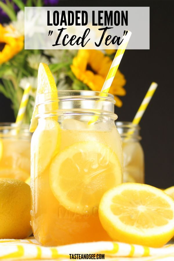 """This Loaded Lemon Iced """"Tea"""" is a refreshing summertime drink!  #WhiskeyDrinks…"""