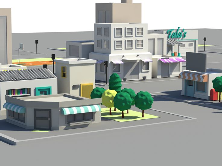 low poly city - Google Search