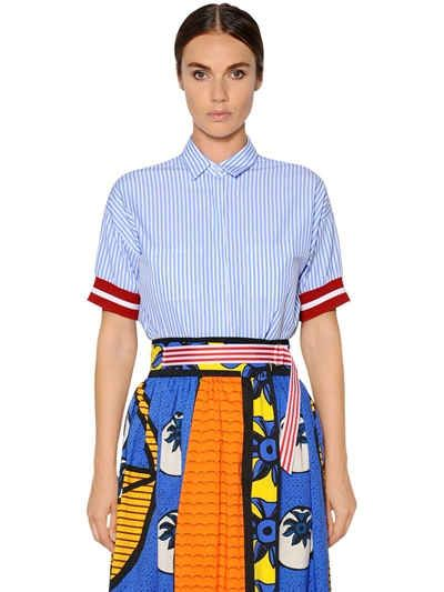 STELLA JEAN STRIPED COTTON POPLIN SHIRT. #stellajean #cloth #shirts