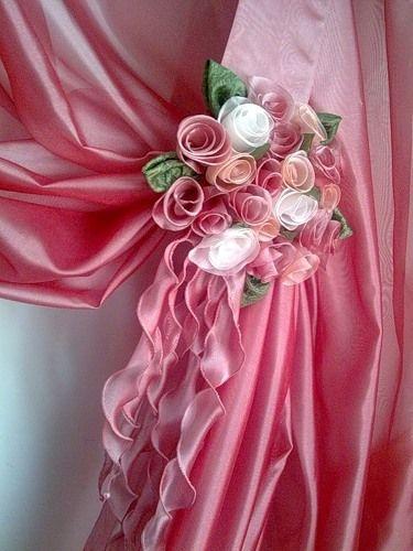 розы из ткани мастер класс -