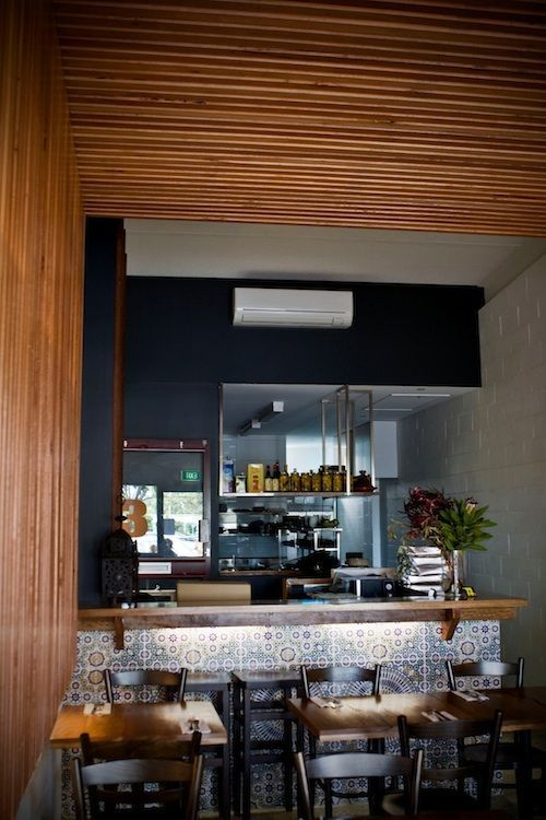 The inside of Anglesea Café which utilizes Radial Timber Screenboards. Pretty amazing right? Info: http://radialtimbers.com.au/portfolio-type/anglesea-cafe/