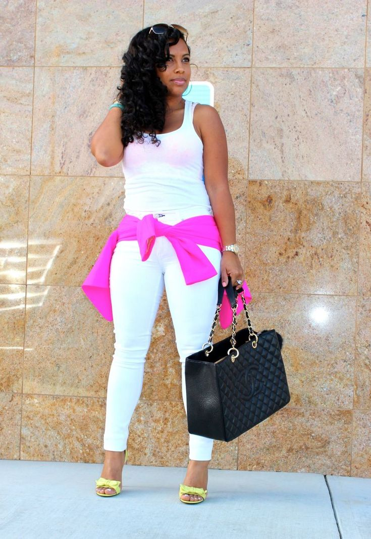 Hot Pink blazer and white jeans | Major Must Haves