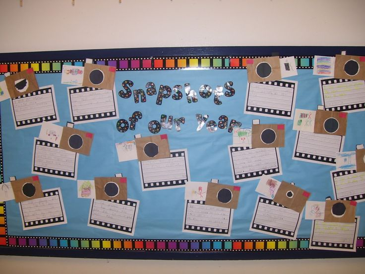 Snapshots of Our Year - cute end of year bulletin board