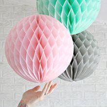 Envío libre 10 '' ( 25 cm ) 10 unids/lote flor de bolas de papel de la linterna DIY bola de nido de abeja papeles de la boda Deco decoración de la navidad(China (Mainland))