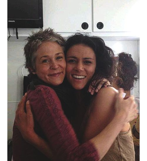 Photo of Melissa McBride & her friend celebrity  Melissa Ponzio -