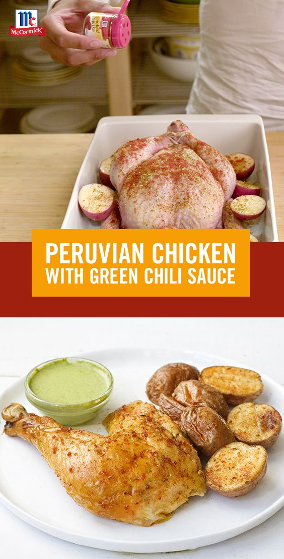 Taste the flavors of Peru with this simple roasted chicken recipe. Serve with a…