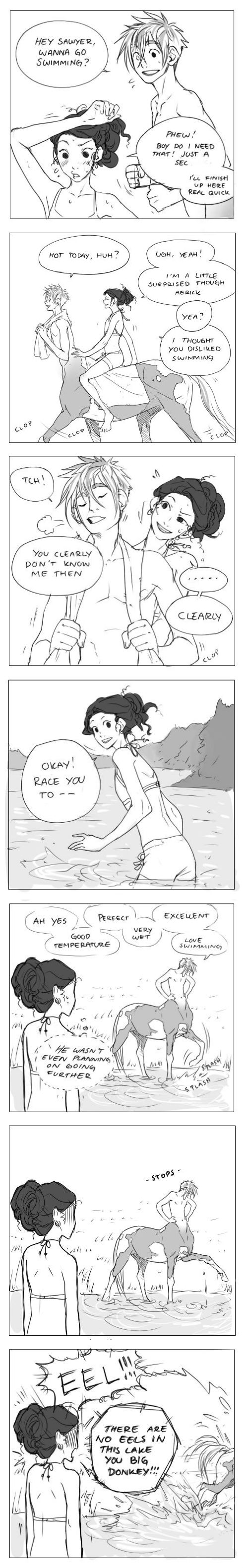 "For inspiration. hubedihubbe (""Swimming"" comic)"