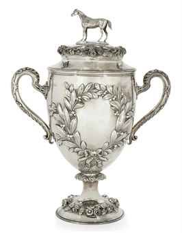 silver trophies for sale | VICTORIAN SILVER HORSE-RACING TROPHY CUP AND COVER | MARK OF ROBERT ...