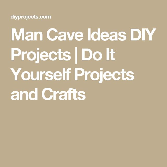 Man Cave Ideas DIY Projects   Do It Yourself Projects and Crafts