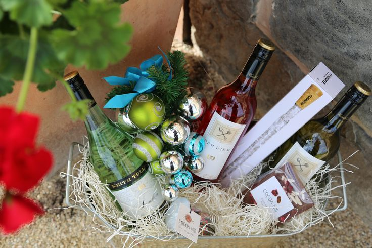 Summer Survival gift bucket with Rose 14 Pinot Gris 14 and SEmillon 14, a corkcicle, Cocoa Nib Chocolate treats, in a big galvanised ice bucket. Ready for Summer drinks on the verandah!