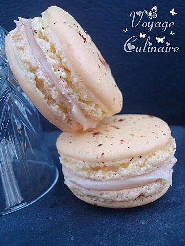 Macarons ganache caramel rhum banane de Christophe Felder