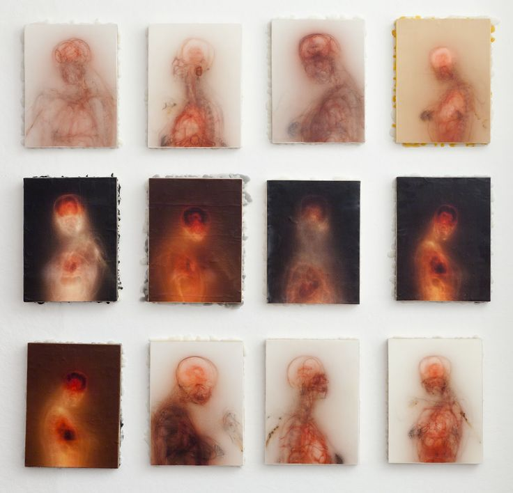 Bryan Christie, print and encaustic