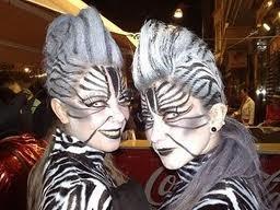 Cristina y yo disfraz de cebra para el carnaval de la noche en Águilas (Murcia)