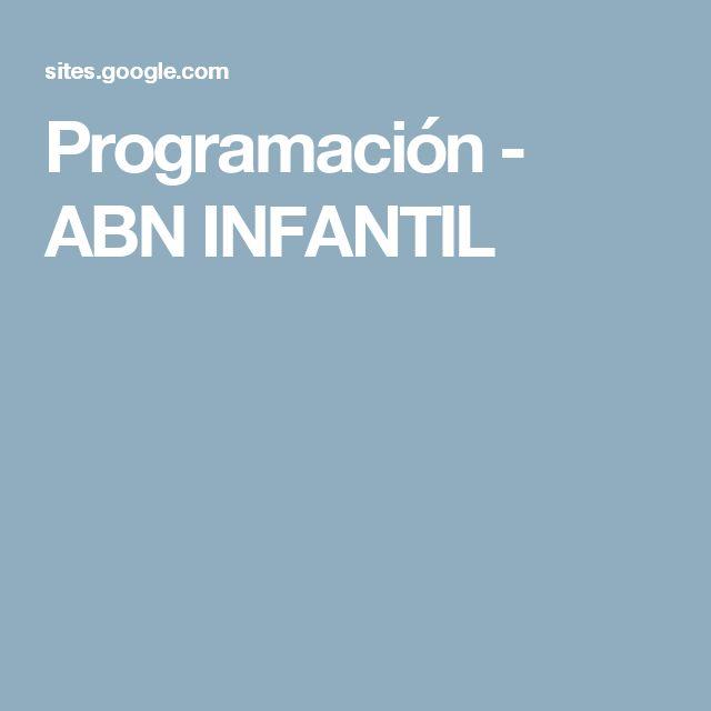 Programación - ABN INFANTIL