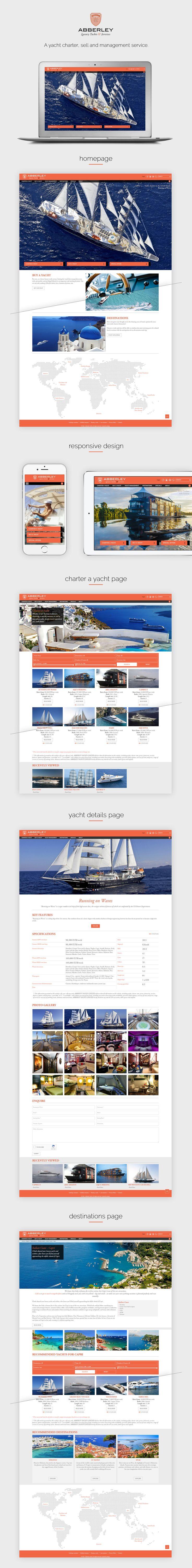 Abberley Yachts webdesign