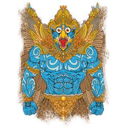 Garuda merupakan mahkluk mitologi dari kepercayaan Hindu, penggambaran garuda sebagai mahkluk kuat, cepat, dan gagah berani. #Kaos #Desain #Baju #Design #TShirt  #Art #Seni #Tees #Rupawa #Garuda #Budaya #Culture
