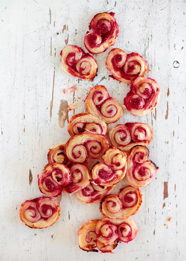 Raspberry Palmiers | 18 Easy And Inexpensive Desserts You Can Make With Puff Pastry