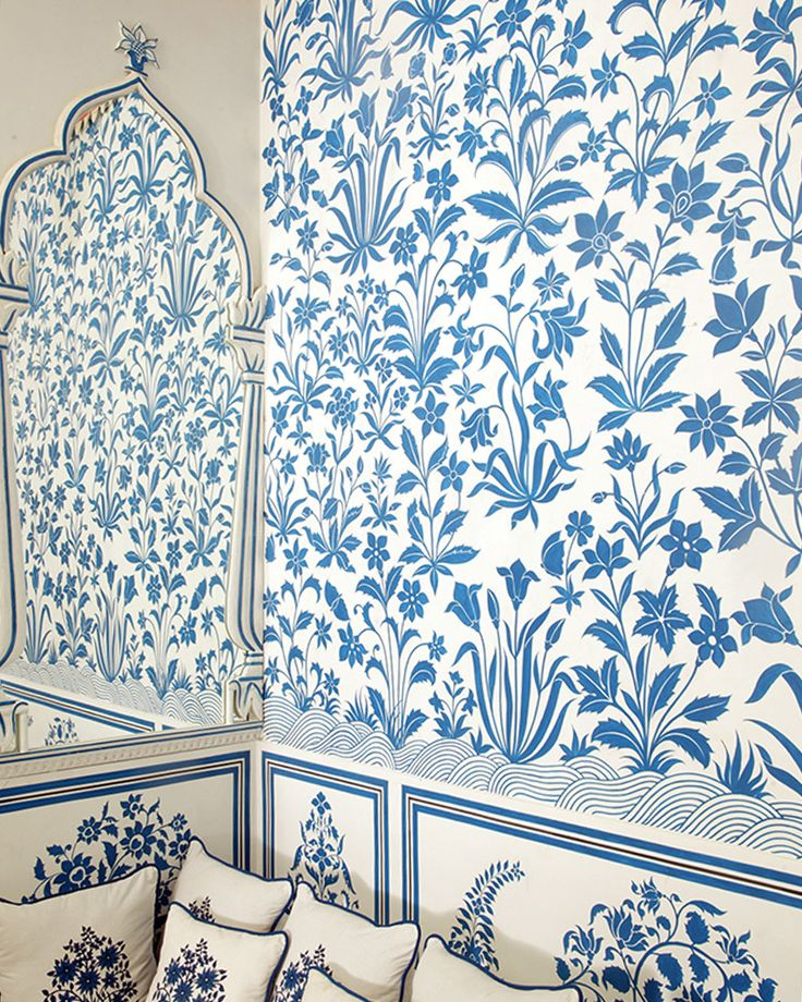 456 best into the blue images on pinterest for Wallpaper for home walls jaipur