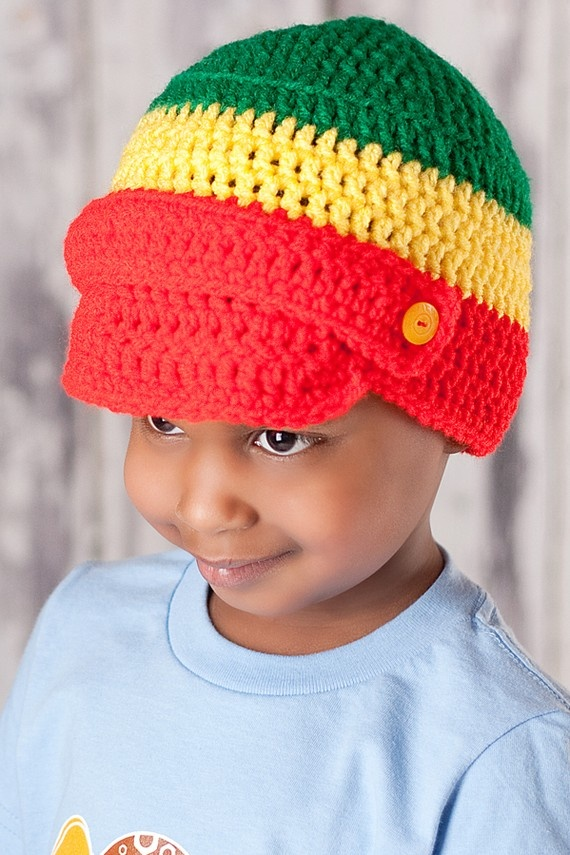 Ethiopia Flag Newsboy Hat